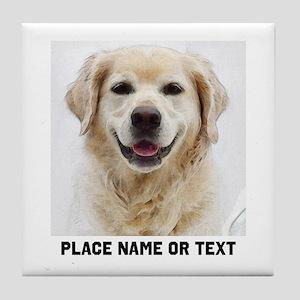 Dog Photo Customized Tile Coaster