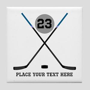 Ice Hockey Personalized Tile Coaster