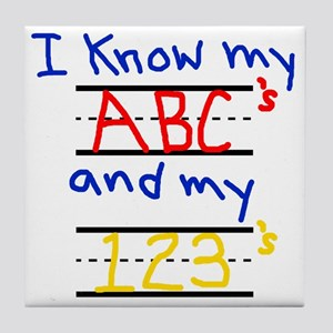 ABCs and 123s Tile Coaster