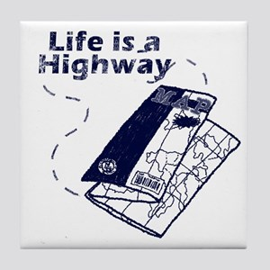 Life is a Highway Tile Coaster