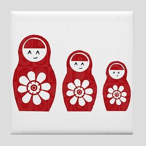 Riyah-Li Designs Nesting Dolls Three Tile Coaster