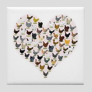 Chicken Heart Tile Coaster