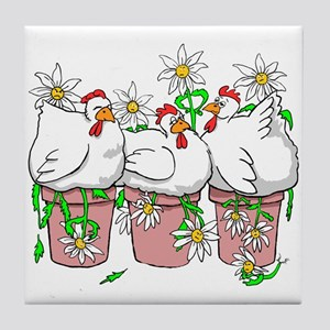 Chicken In Every Pot Tile Coaster