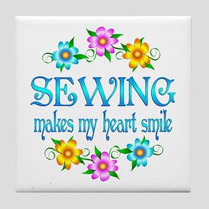 Sewing Smiles Tile Coaster