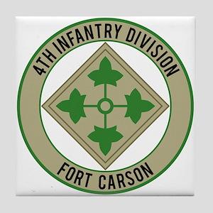4th Infantry post Tile Coaster