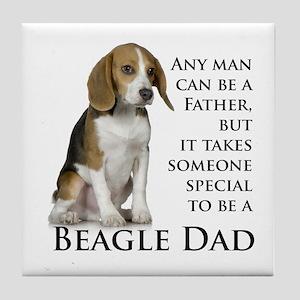 Beagle Dad Tile Coaster