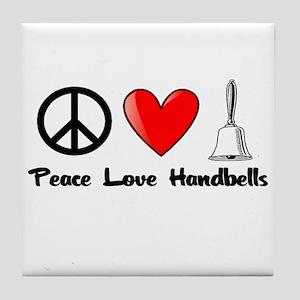 Peace, Love, Handbells Tile Coaster