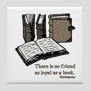 Books-3-Hemingway Tile Coaster