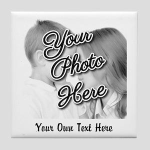 CUSTOM Photo and Caption Tile Coaster