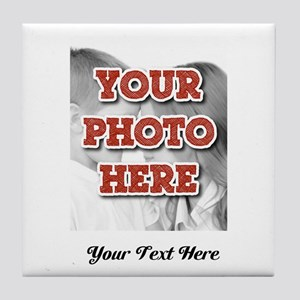 CUSTOM 8x10 Photo and Text Tile Coaster