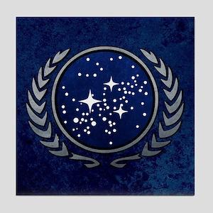 STARTREK UFP STONE Tile Coaster