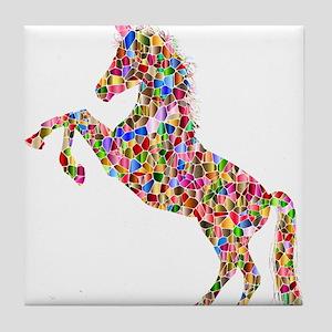 Prismatic Rainbow Unicorn Tile Coaster