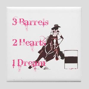 3 Barrels, 2 Hearts, 1 Dream Tile Coaster