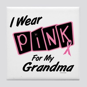 I Wear Pink For My Grandma 8 Tile Coaster