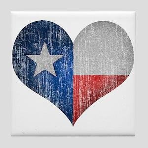 Faded Texas Love Tile Coaster