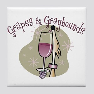 Grapes and Greyhounds Tile Coaster