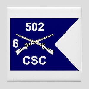 CSC 6/502nd Tile Coaster