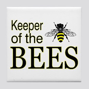 keeping bees Tile Coaster