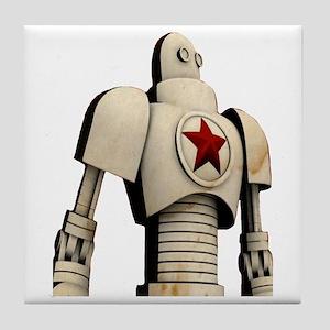 Robot soviet space propaganda Tile Coaster