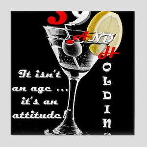 39+ with Attitude! Tile Coaster