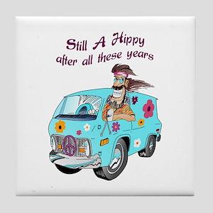 STILL A HIPPY Tile Coaster