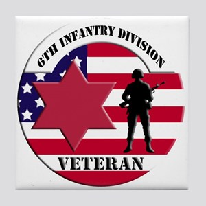 6th Infantry Division Tile Coaster