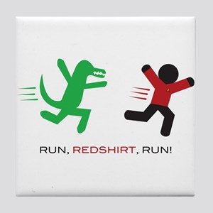 Run, Redshirt, Run! Tile Coaster