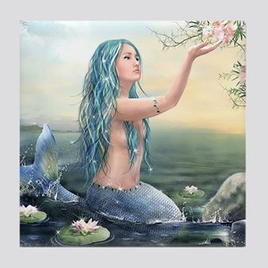 Beautiful Mermaid Tile Coaster