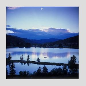 Mountain Lake Tile Coaster