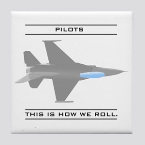 Pilots: How We Roll Tile Coaster