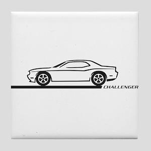 2008-10 Challenger Black Car Tile Coaster