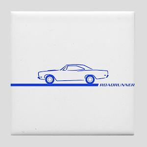 1968-69 Roadrunner Blue Car Tile Coaster
