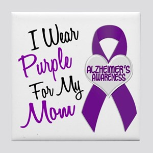 I Wear Purple For My Mom 18 (AD) Tile Coaster