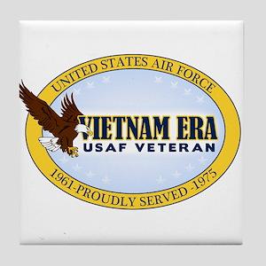 Vietnam Era Vet USAF Tile Coaster