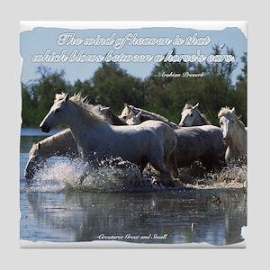 Horses w/ Proverb Tile Coaster