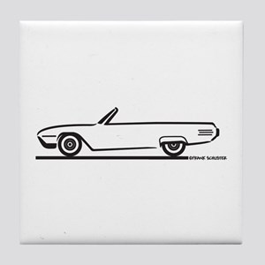 1961 Ford Thunderbird Convertible Tile Coaster