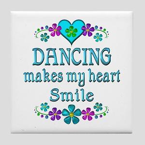Dancing Smiles Tile Coaster