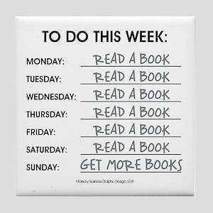 READ A BOOK Tile Coaster