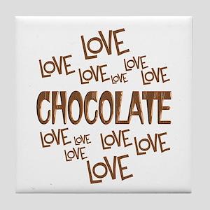 Love Love Chocolate Tile Coaster