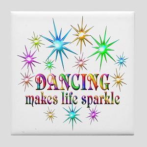 Dancing Sparkles Tile Coaster
