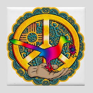 PEACE ROADRUNNER Tile Coaster