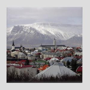 Reykjavik Blues Tile Coaster