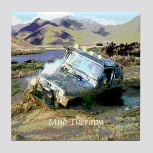 Jeep & Mud Therapy Tile Coaster