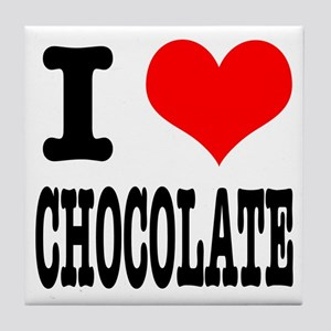 I Heart (Love) Chocolate Tile Coaster