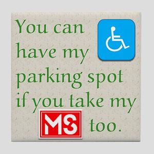 MS Parking Spot Tile Coaster