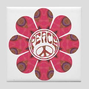 Peace Flower - Affection Tile Coaster