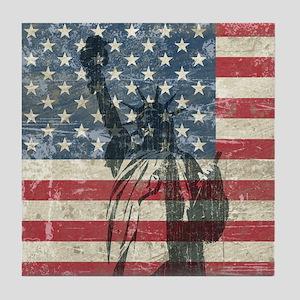 Vintage Statue Of Liberty Tile Coaster