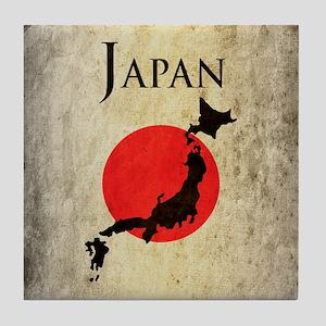 Map Of Japan Tile Coaster