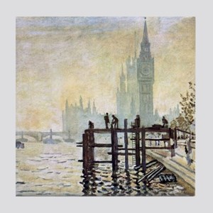 Claude Monet Westminster Bridge Tile Coaster