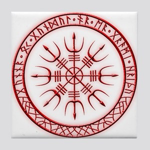 Aegishjalmur: Viking Protection Rune Tile Coaster